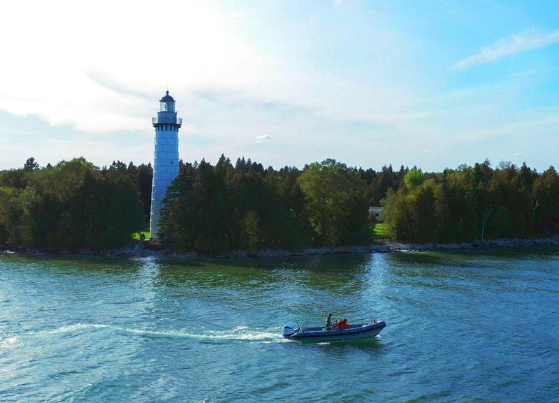 Cana Island Lighthouse Boat Tours with Door County Adventure Rafting
